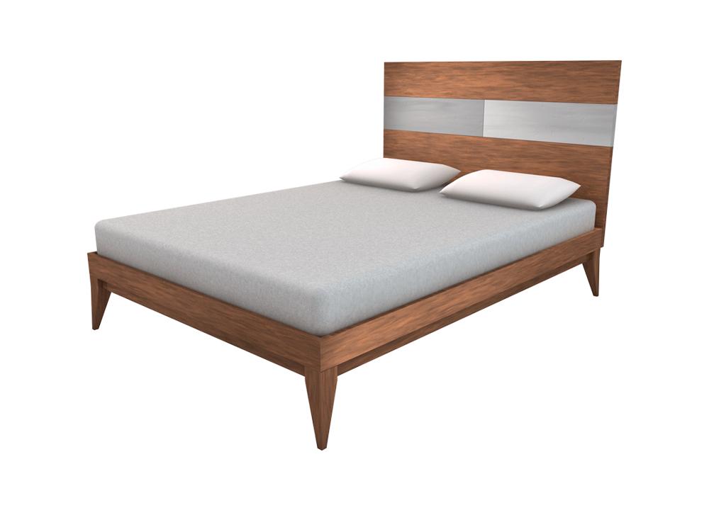 Cama madera moderna mstyzo for Modelos de zapateras de madera modernas